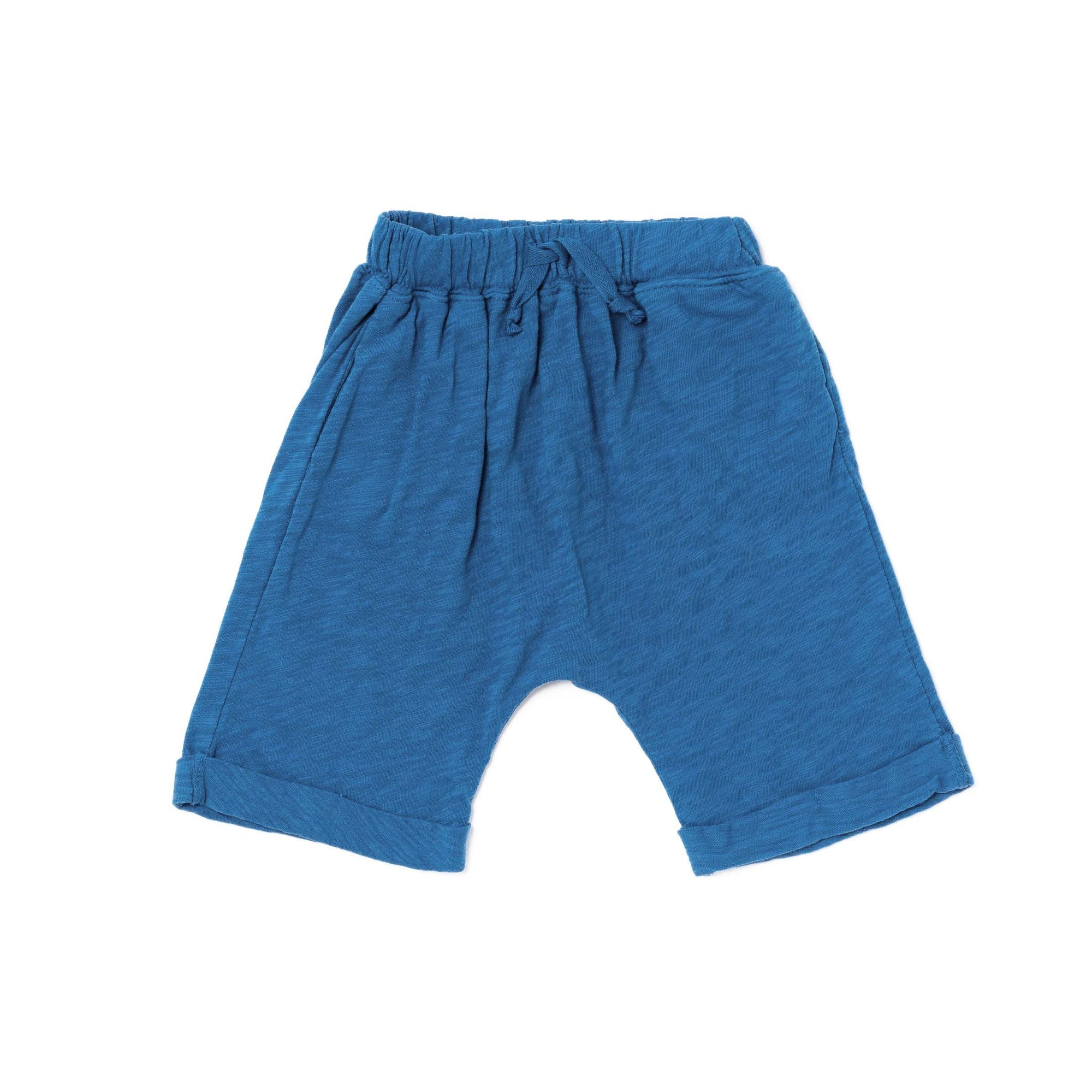Slub Lounge Shorts, Steel Blue