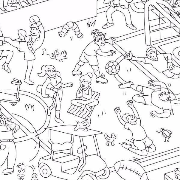 OMY: Coloring Poster, Sports