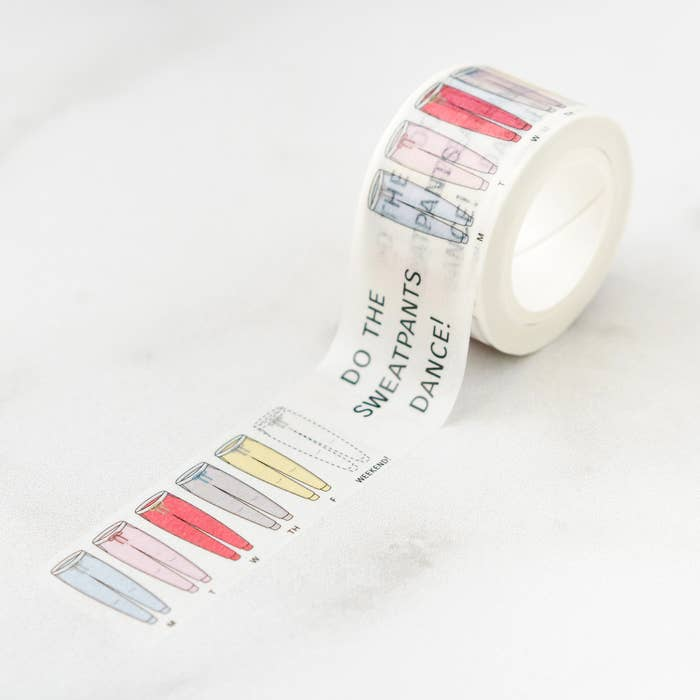Ilootpaperie: Happy Sweat Pants Dance! Washi Tape