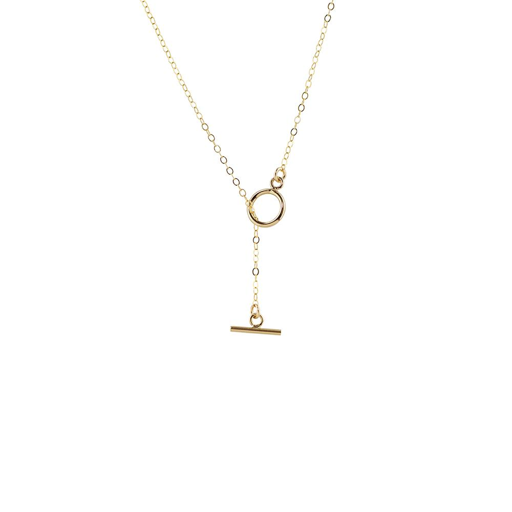 Thesis of Alexandria: Toggle Style Drop Lariat Necklace