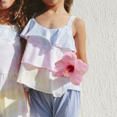 Shaved Ice Tie Dye Ruffle Swing Tank