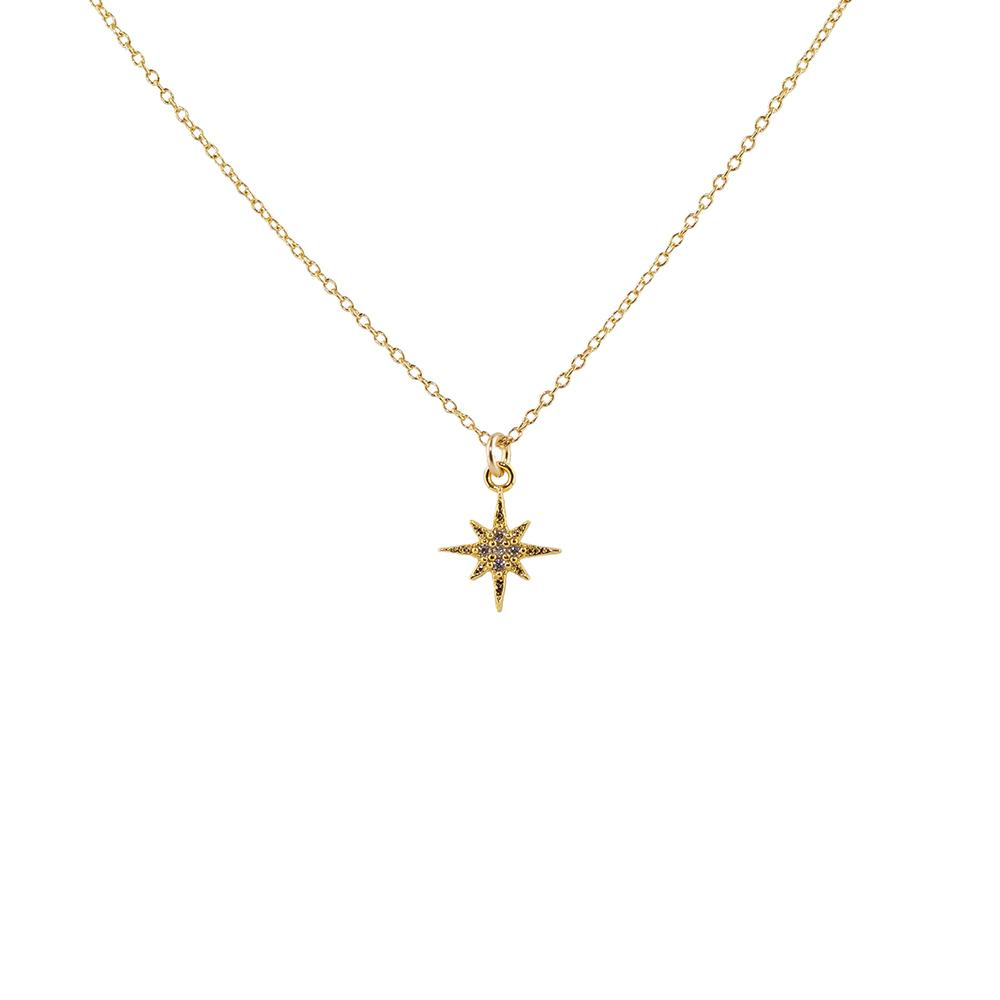 Thesis of Alexandria: CZ North Star Necklace