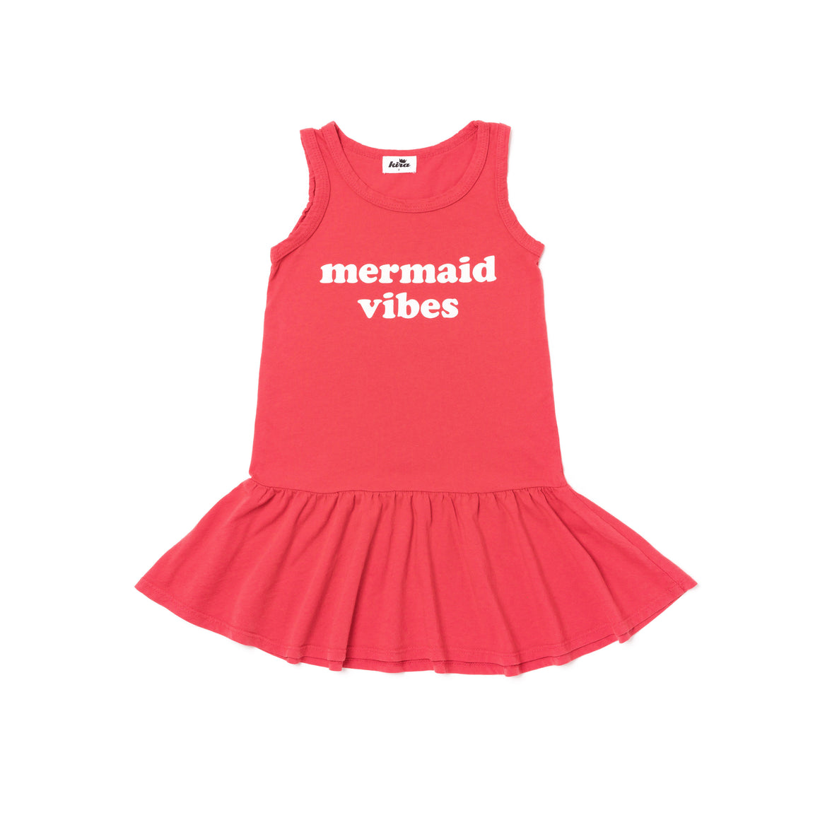 Mermaid Vibes Ruffle Tank Dress, Fluro Coral