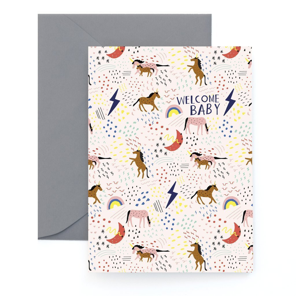 Carolyn Suzuki Goods: Unicorn Pasture, Happy Birthday