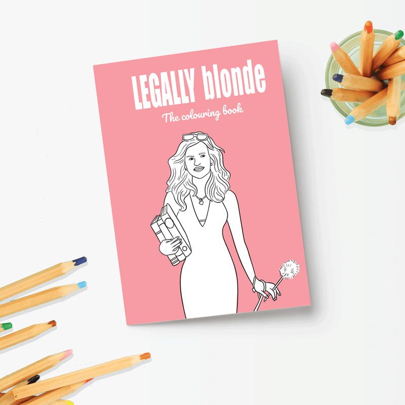 Party Mountain Paper Co.: Legally Blonde Colouring Book