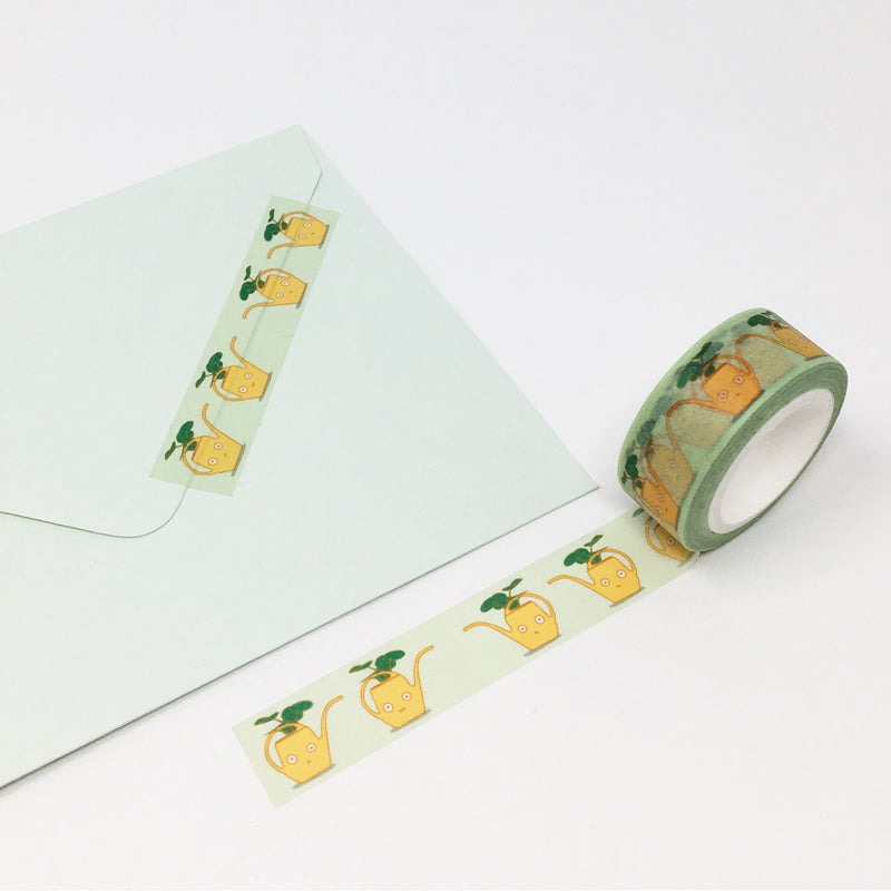 Ilootpaperie: Yellow Vintage Watering Can Washi Tape