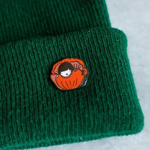 Stay Home Club: Hiding Lapel Pin