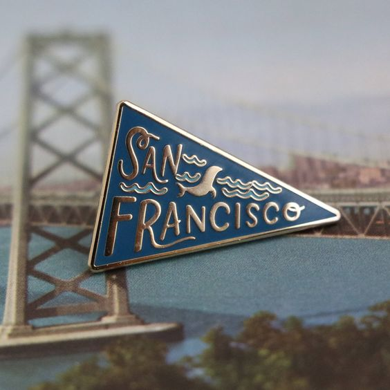 Paper Parasol Press: San Francisco Pennant Lapel Pin