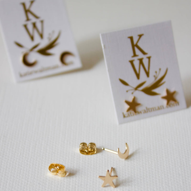Katie Waltman Jewelry: Small Gold Filled Star Earring