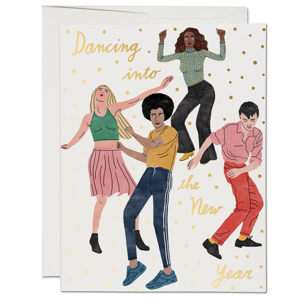 Red Cap Cards - Dancing into the New Year