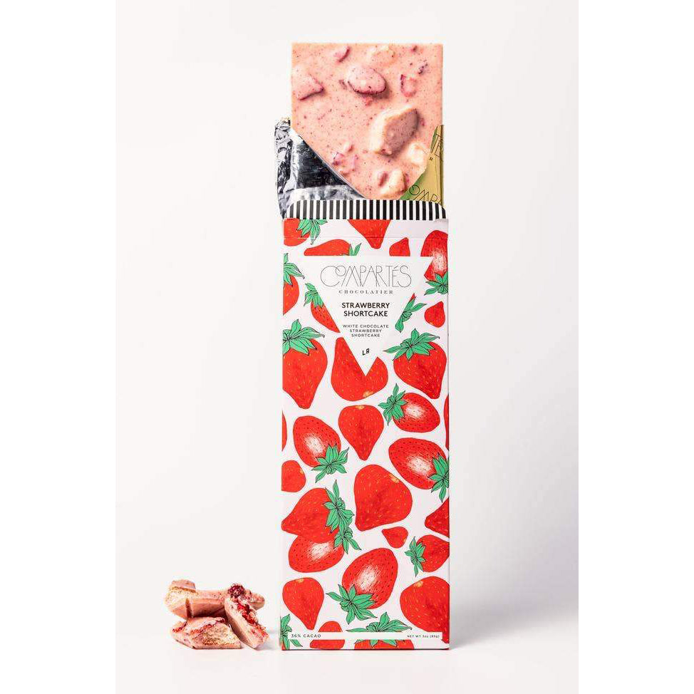 Compartes Chocolate: Strawberry Shortcake Chocolate Bar