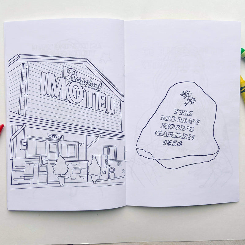 Party Mountain Paper Co.: Schitt's Creek Colouring Book