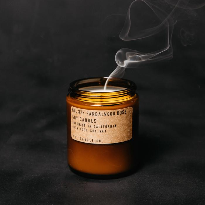 P.F. Candle Co.: Sandalwood Rose Candle, Standard