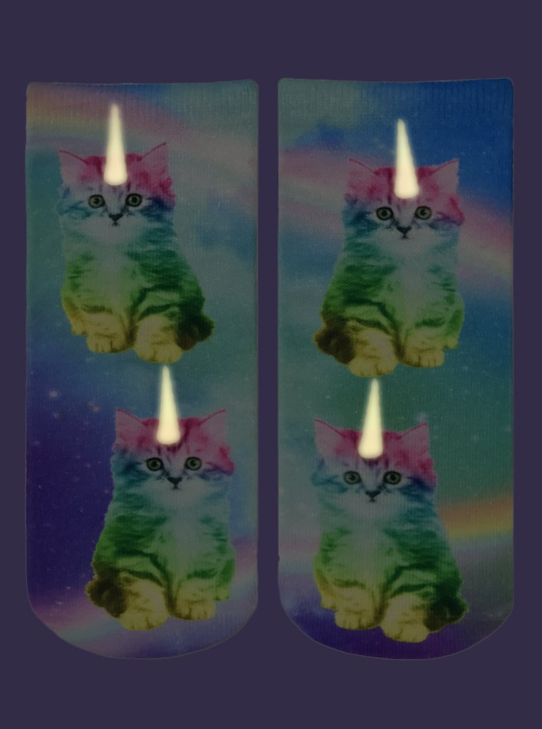 Living Royal Socks - Ankle Socks - Unicorn Kitty