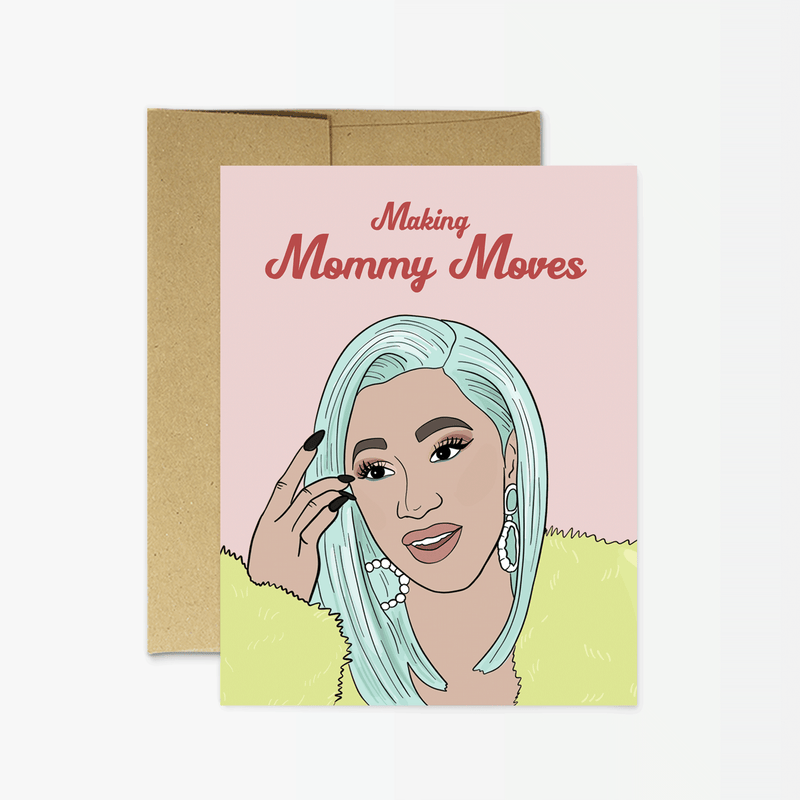 Party Mountain Paper Co.: Cardi Mommy Moves
