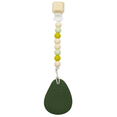 Loulou Lollipop: Avocado Silicone Teether with Holder