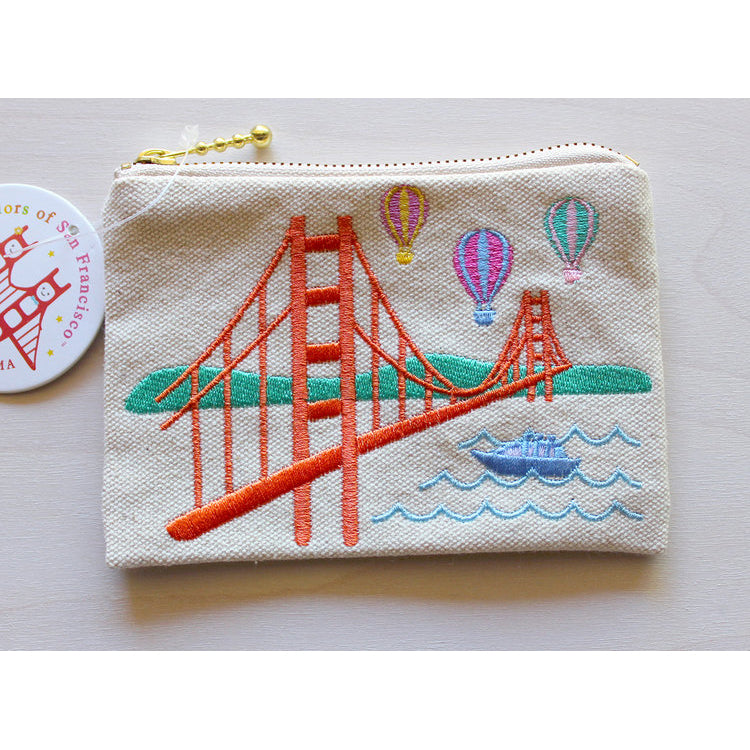 Tomoko Maruyama Design: Embroidered Colorful Balloons Coin Purse