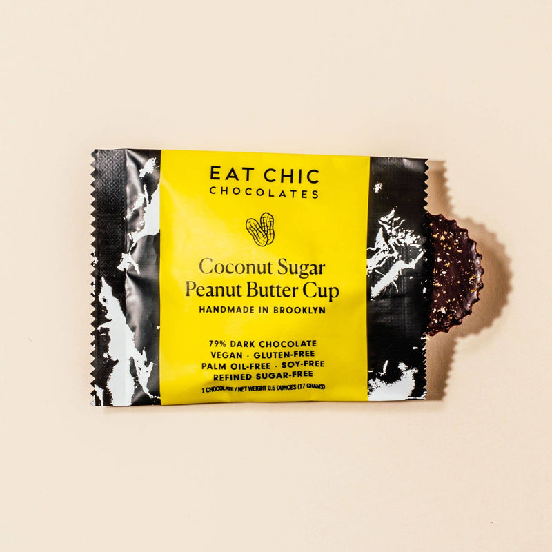 Eat Chic Chocolates: Dark Chocolate Coconut Sugar Peanut Butter Cup