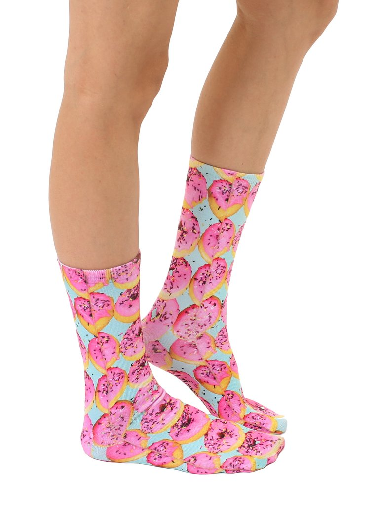 Living Royal Socks - Crew Socks - Pink Donuts