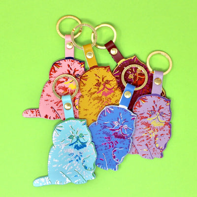 Ark Colour Design: Meow Key Fob, Yellow