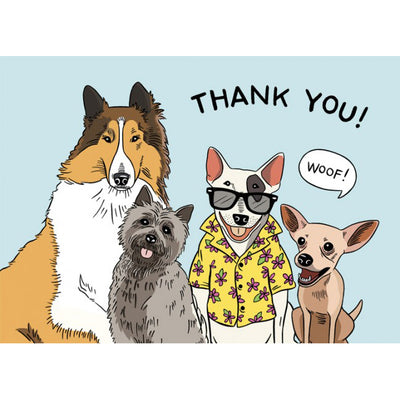 The Found: Famous Dogs Thank You Card
