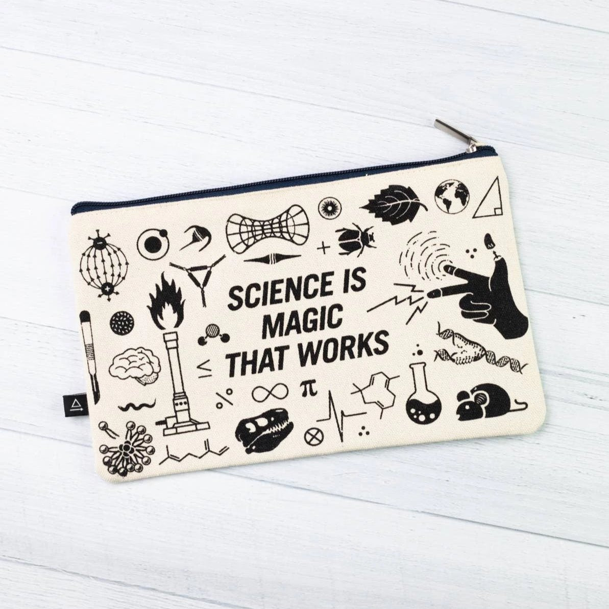 Cognitive Surplus: Science is Magic That Works! Zip Case