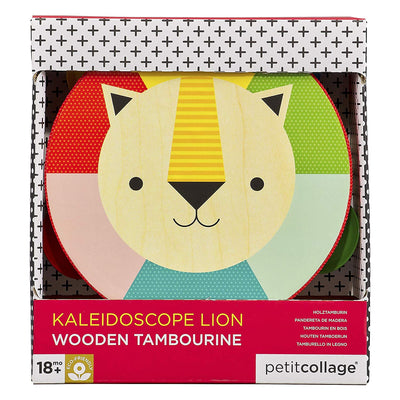 Petit Collage: Kaleidoscope Lion Wooden Tambourine