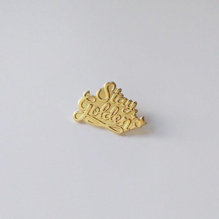 Design + Happiness: Stay Golden Pin