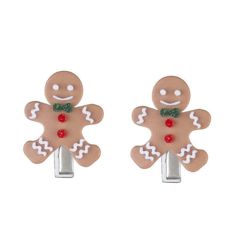 Lilies & Roses NY: Hair Clip, Gingerbread Cookie (Set of 2)
