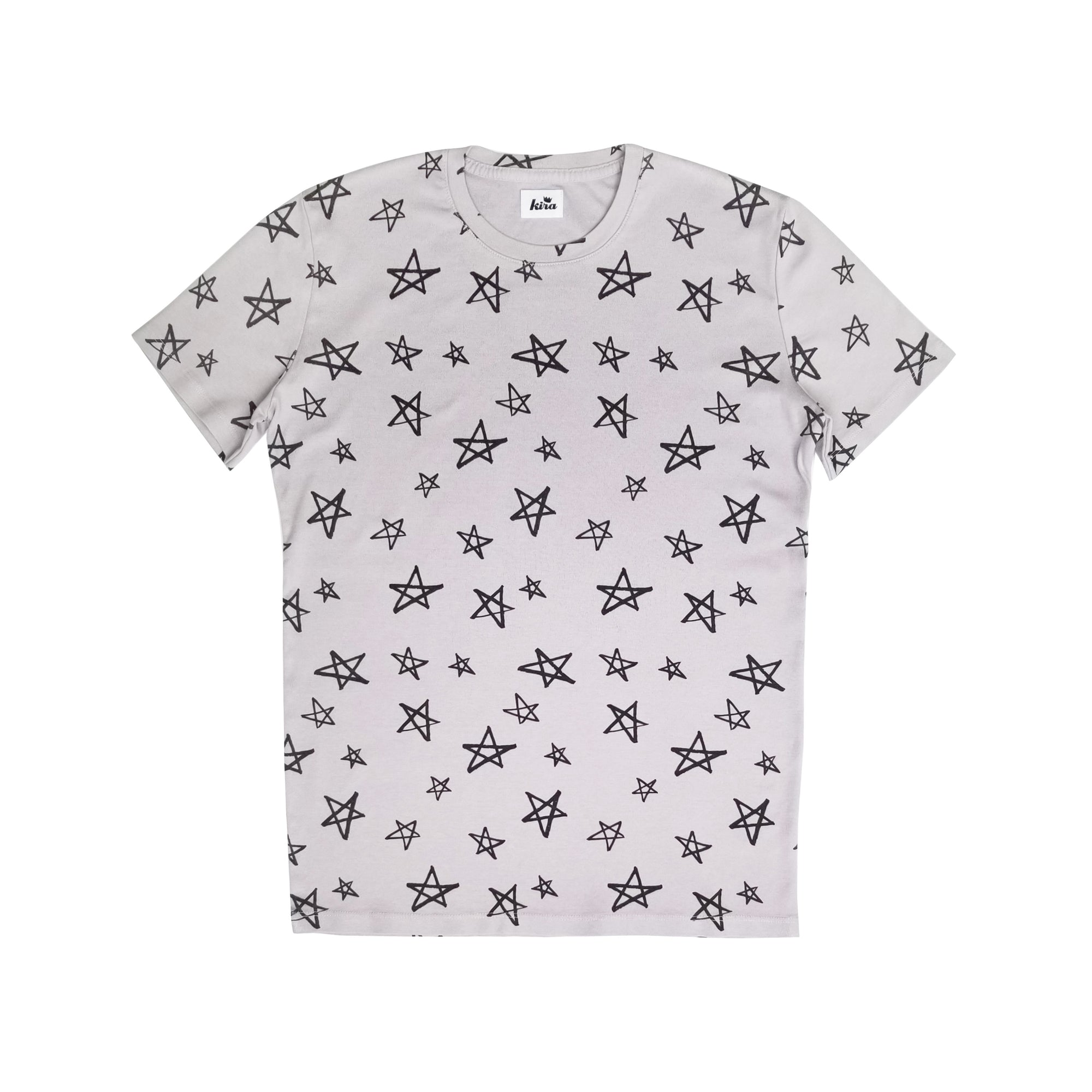 Stars Print T-shirt, Light Grey | Unisex Adult