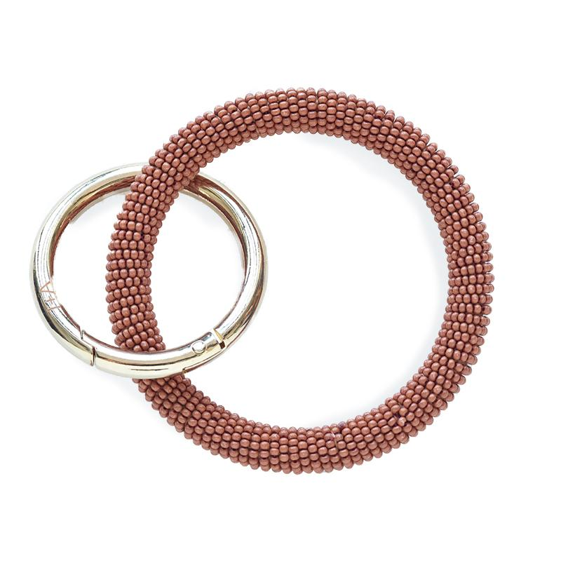 Ink + Alloy: Rust Seed Bead Key Ring
