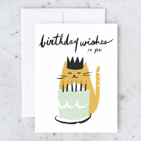 Idlewild Co: Kitty Wishes Birthday Card