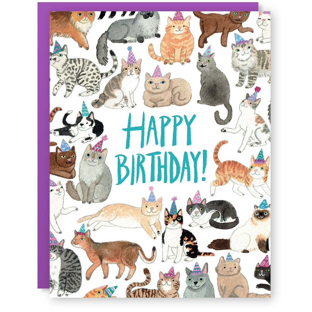 Cactus Club: Birthday Cats Animals Card
