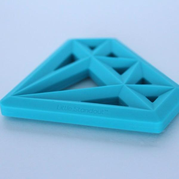 Little Standout: Silicone Diamond Teether, Blue
