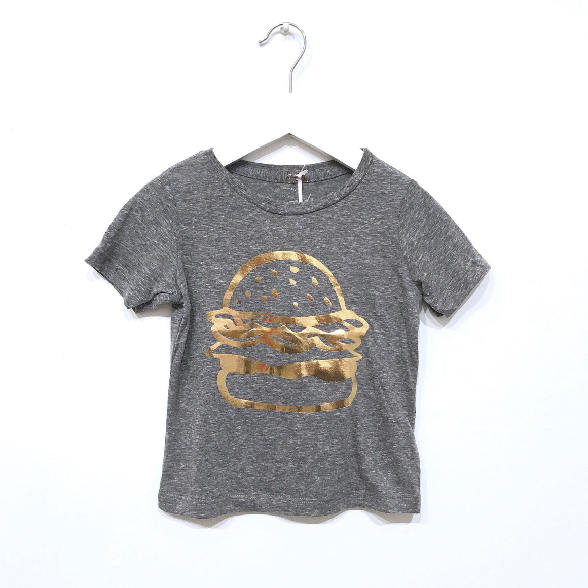 Burger Graphic T-shirt, Heather Grey