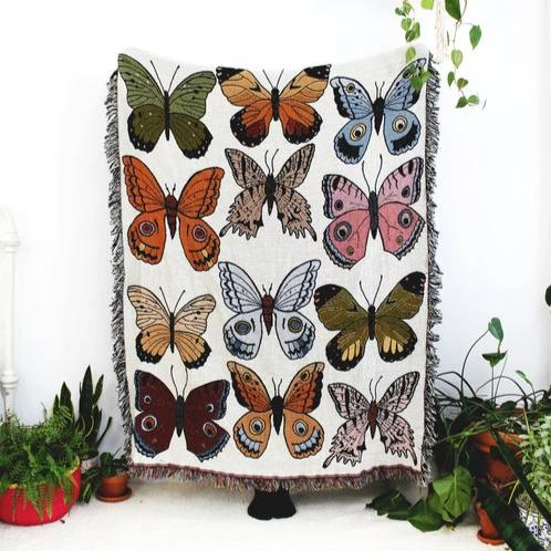 Calhoun & Co.: Butterfly & Moth Tapestry Blanket