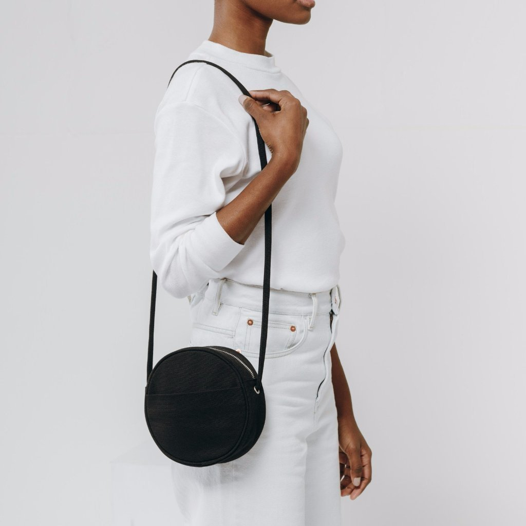 Baggu: Canvas Circle Purse - Black