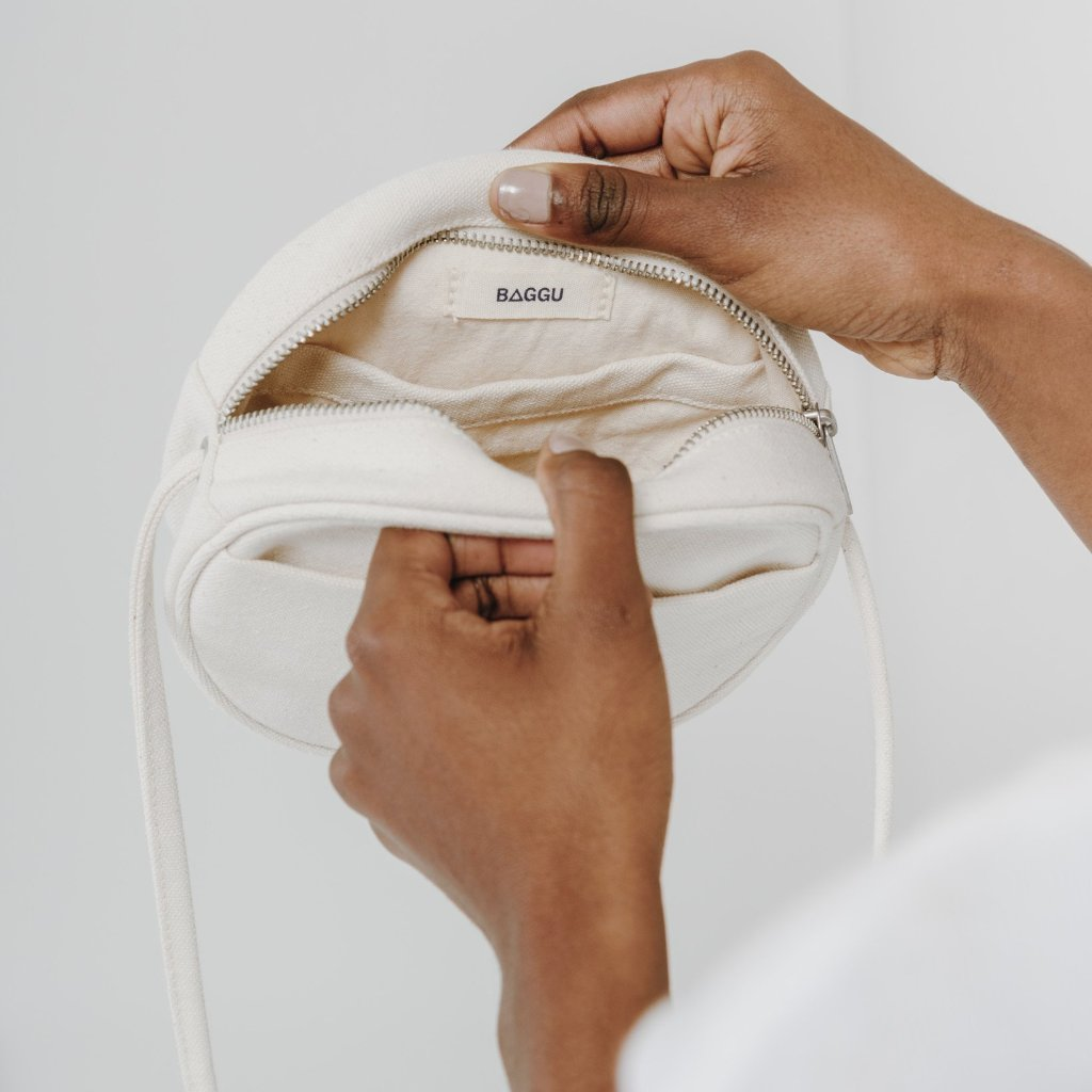Baggu: Canvas Circle Purse - Natural