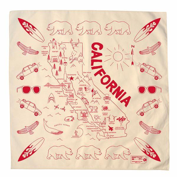 Maptote: California Bandana, Natural