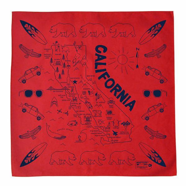 Maptote: California Bandana, Red