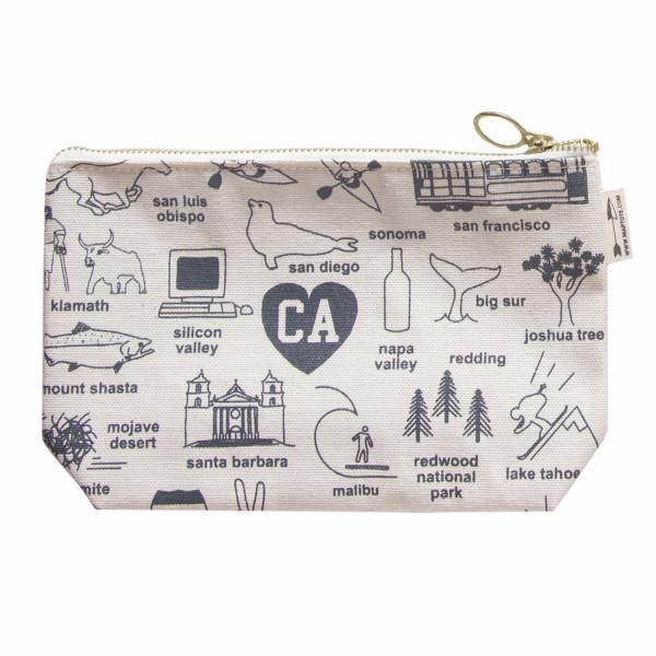 Maptote: California Zipped Pouches, Natural
