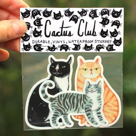 Cactus Club: Cat Sticker Pack Vol. 1