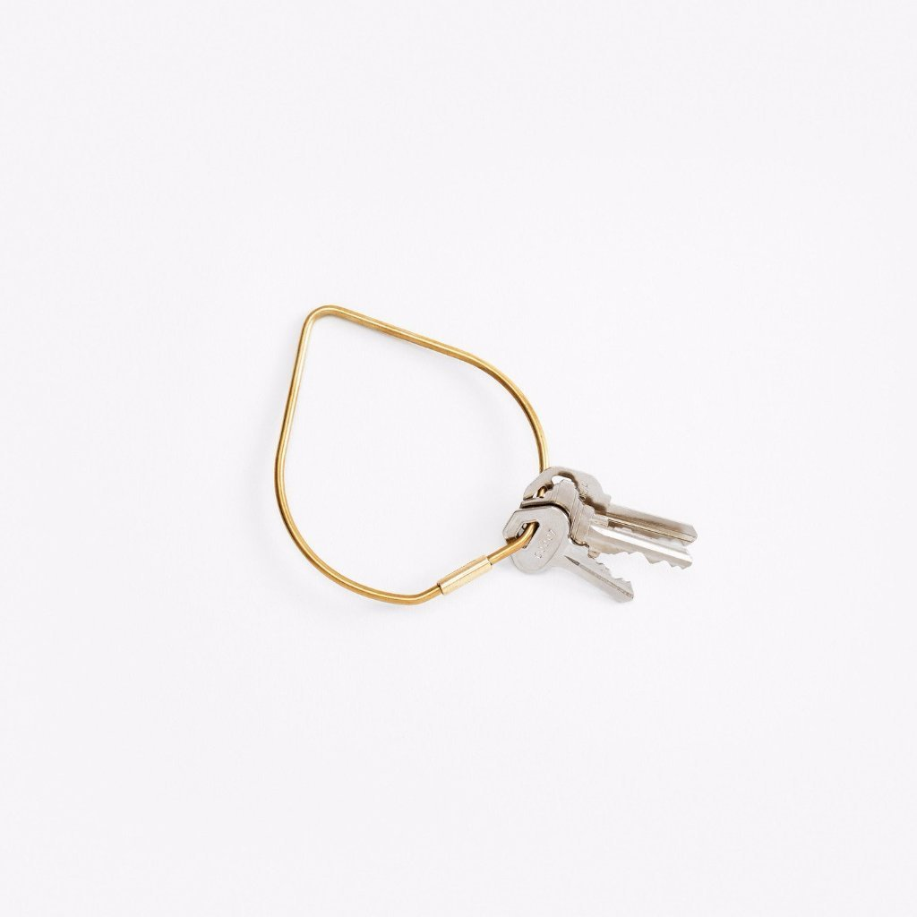 Areaware: Contour Key Ring - Brass/Drop