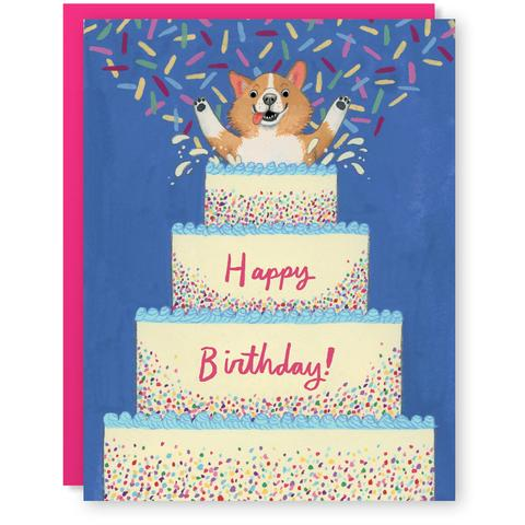 Cactus Club: Corgi Surprise Card