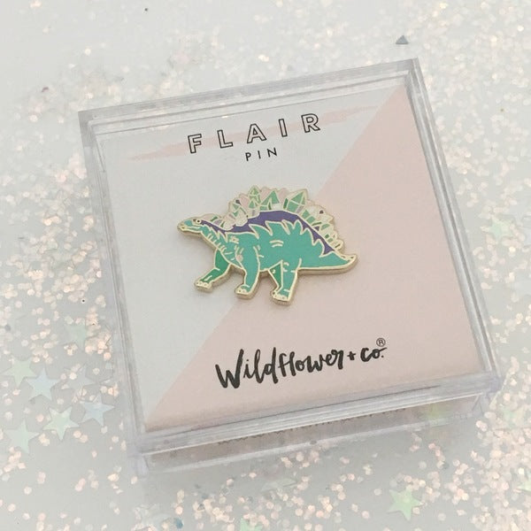 Wildflower + Co.: Stegosaurus Enamel Pin