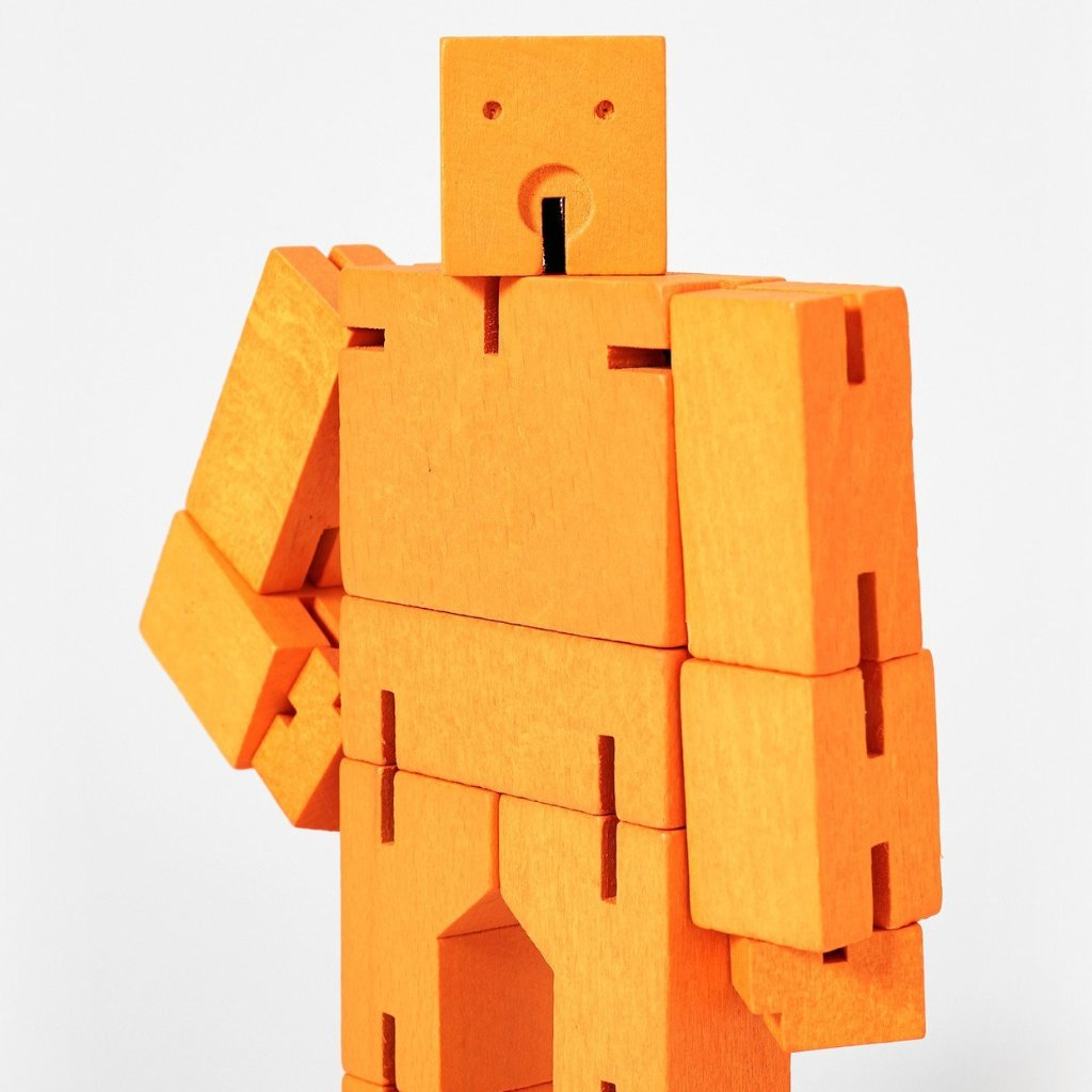 Areaware: Cubebot® Orange, Micro