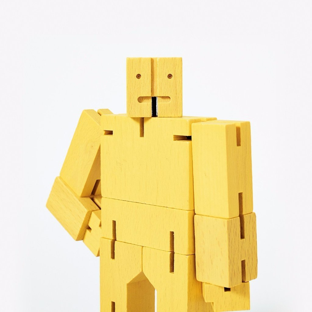 Areaware: Cubebot® Yellow, Micro