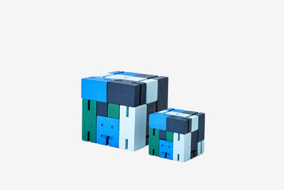 Areaware: Cubebot® Capsule Collection Blue Multi, Small