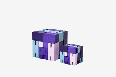 Areaware: Cubebot® Capsule Collection Purple Multi, Small