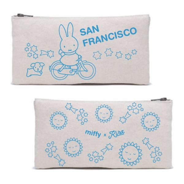Miffy x Kira Bike SF Zipper Pouch